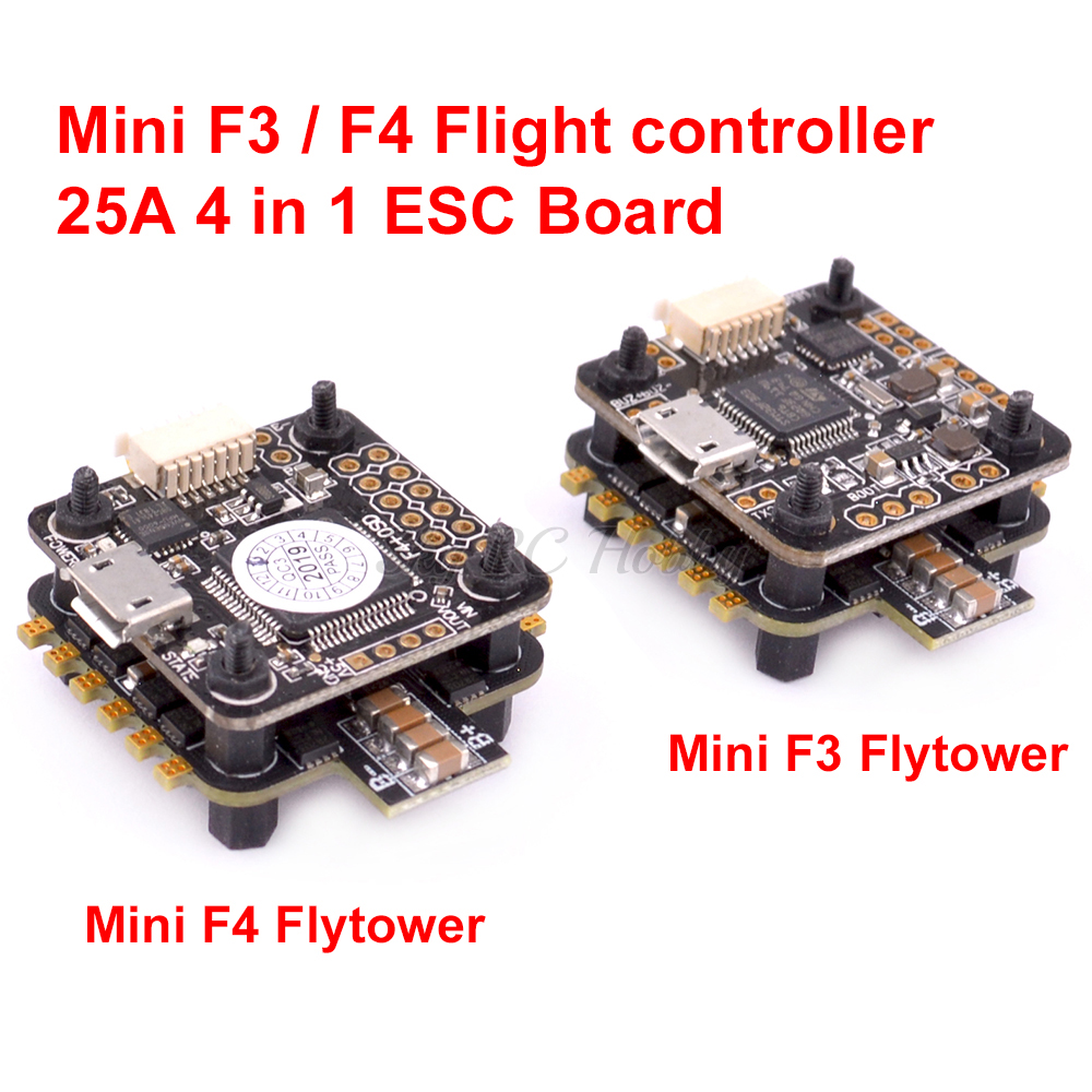 Mini F3 / F4 Flytower Flight Control Integrated OSD Built-in 5V 1A BEC / 25A 4 In 1 ESC 2-4S Support DSHOT For RC ELF 88mm MD90