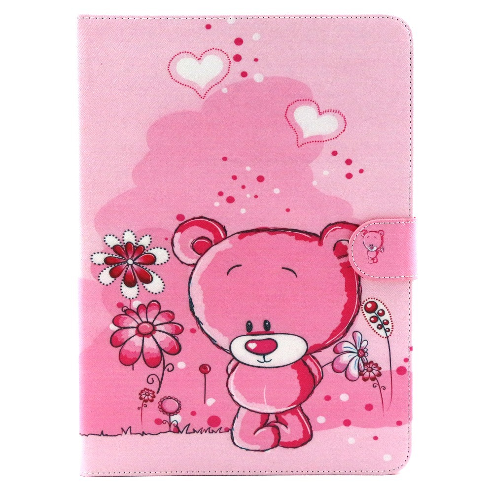 Fashion Flower Series with Card Slot Pu leather stand holder Cover Case For Samsung Galaxy Tab4 Tab 4 T530 t531 Cover 10.1