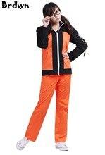 Наруто Косплэй Наруто Узумаки костюм 2nd поколения костюм унисекс Повседневная одежда Пальто Куртка с капюшоном топы, штаны