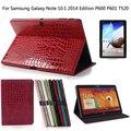 Крокодил Футляр Для Samsung Galaxy Tab Pro 10.1 T520 Кожи чехол Для Samsung Galaxy Note 10.1 2014 Издание P600 P601 + подарок