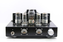 Finished HiFi 6H8C Push 6P1 Vacuum Tube Amplifier Class A Single-Ended Stereo Power Amp 6.8Wx2