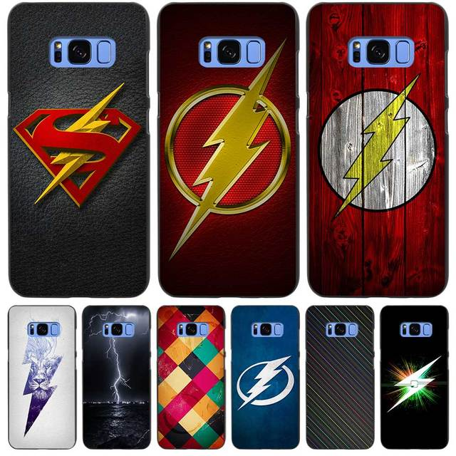 Lightning Bolt Symbols Flash Black Case Cover Shell Coque For