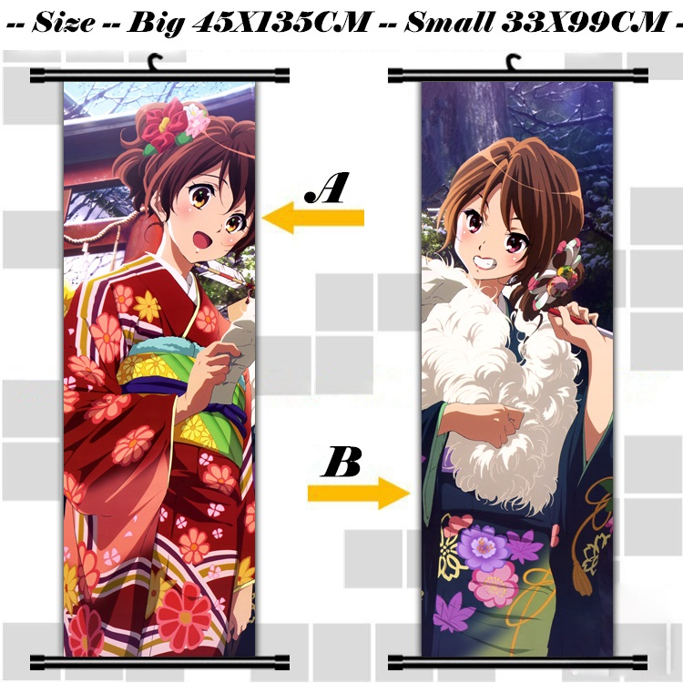 45X135CM Sound Hibike! Euphonium Kyoto Animation lolita cartoon anime art wall picture mural scroll cloth canvas painting poster