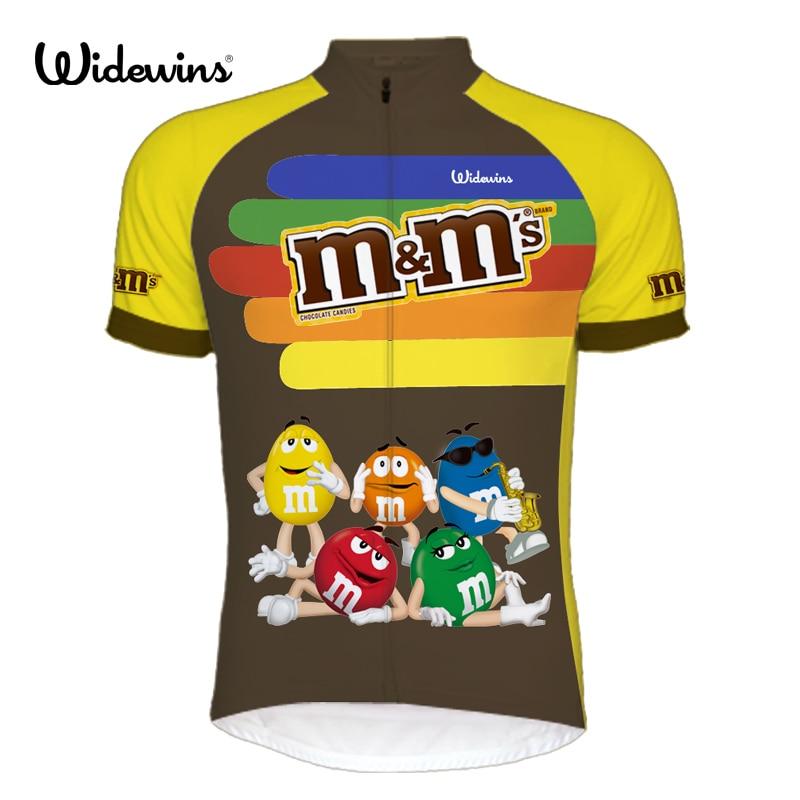 Prix pour 2017 nouveau hommes Ropa de Ciclismo de bande dessinée vélo jersey MMDS-M mignon tour chemise widewins vélo vêtements de vêtements cool vêtements 6502