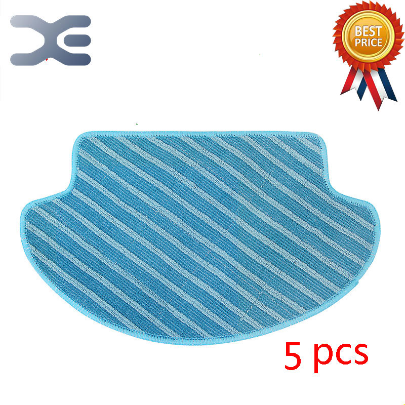 5 Pcs High Quality Ecovacs DT85 DT83 Sweeping Machine Accessories Wiping Cloth Cloth Vacuum Cleaner Parts