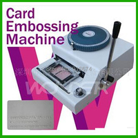 New High Quality 68 Code Manual Code Printer PVC Card Embossing Machine Letterpress Rotogravure Printing Machine