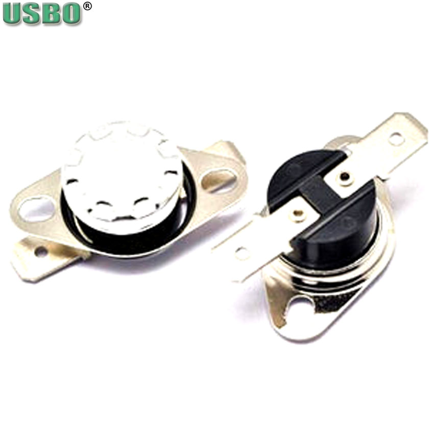 High quality Sudden jump 250V 10A thermostat thermal protector 175 degree normal closed temperature control switch KSD301 20pcs