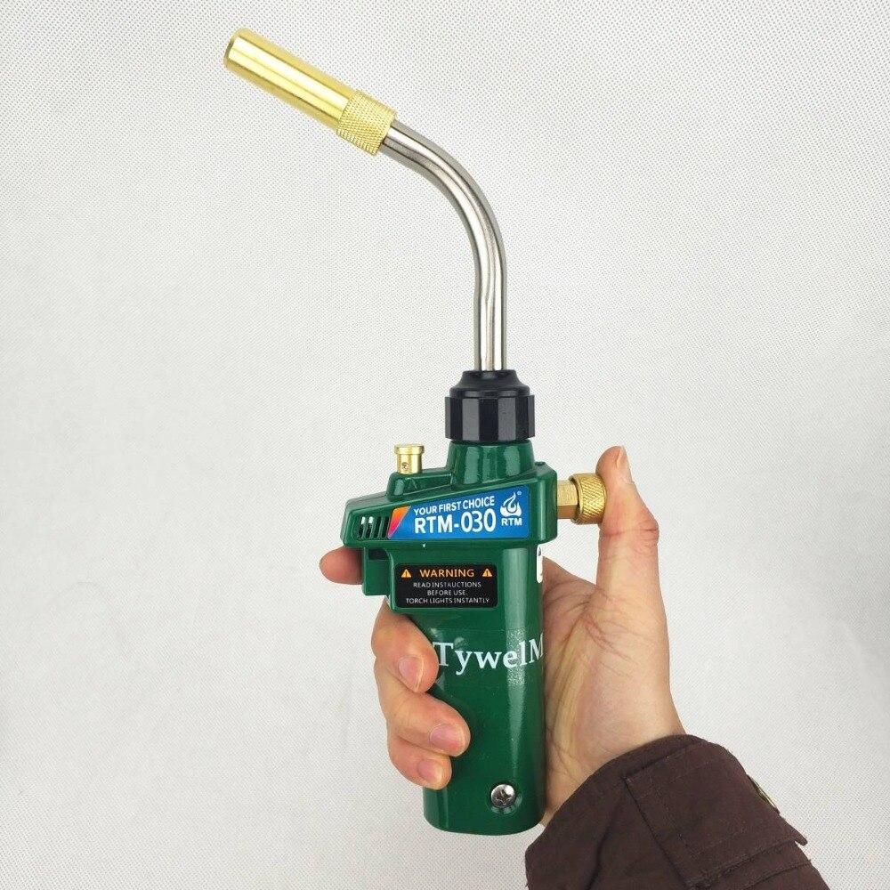 Mapp Torch Braze Welding MAPP Propane Gas Gun Heater Burner W Self Ignition CGA600 For Copper Aluminum Pipe Welding BBQ Heating