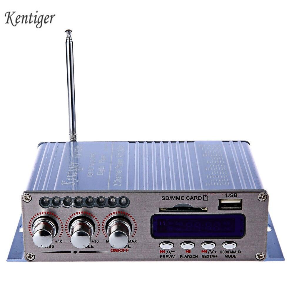 Kentiger HY-502S 2CH Bluetooth Hallo-fi Super Bass Ausgang Power Verstärker FM AUX Aluminium Mit Fernbedienung Für Motorrad