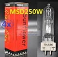 4xLot Free shipping Stage Lighting Lamps MSD 250/2 MSD250W MSR Bulb NSD250W NSK 250/2 Metal Halide Lamp Moving Head Lights Bulbs