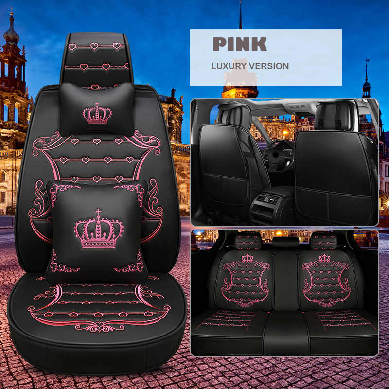Сиденья Универсальный кожаный для KIA Rio Cerato Sorento Форте K2 K3 K5 автокресел протектор автомобиля подушки авто внутреннее оформление