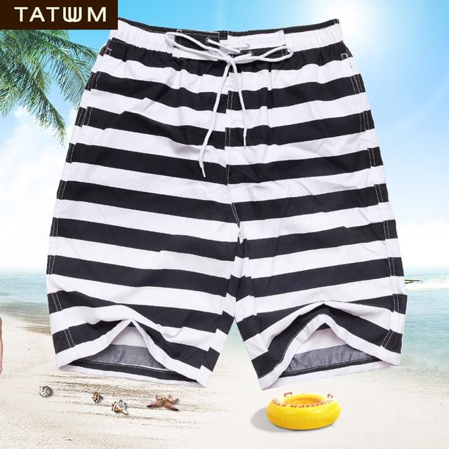106728ab8a TATUUM mens board shorts male bermuda surf shorts men sport shorts black  white stripe swim shorts swimsuit swimwear beach pants