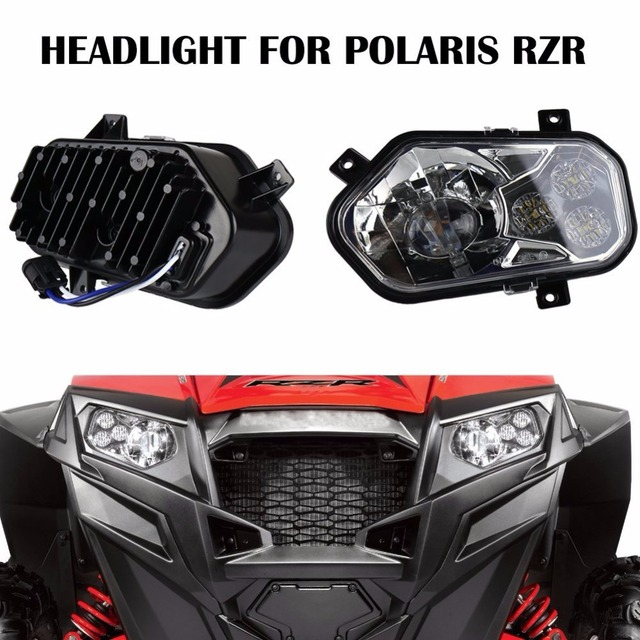 2 X Polaris Ranger and Sportsman LED Headlight Kit ATV UTV ...