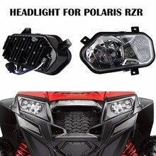 2 X Polaris Ranger and Sportsman LED Headlight Kit ATV UTV Light Accessories Projector Headlight for Polaris Ranger Side X Sides
