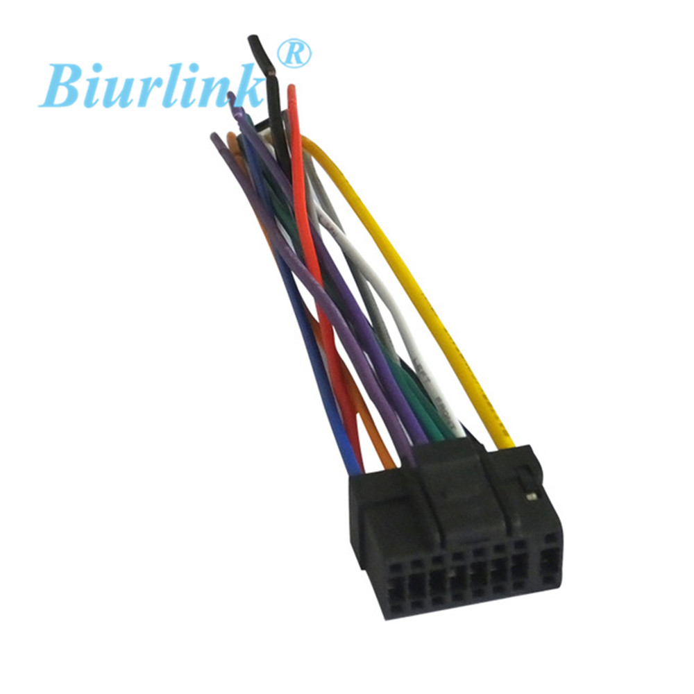biurlink 10pcs car factory stereo harness cable wire 16pin connector plug for alpine in cables adapters sockets from automobiles motorcycles on  [ 1000 x 1000 Pixel ]