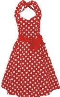 Пром Холтер платье Хлопковое платье в горошек Женщины 50-х годов одежда рок-н-ролл Панк уличные больших размеров США Revival ретро клубная одежд...