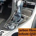 Adequado para a remontagem de fibra de carbono para o interior de controle Infiniti Q50 Q50 3D decoração do carro barracas.