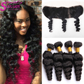 13x4 Lace Frontal Closure With Bundles Brazilian Loose Wave With Frontal Closure Brazilian Hair Loose Wave With Frontal Closure