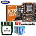 HUANAN Чжи X79 игровая материнская плата с M.2 Накопитель SSD с протоколом NVME слот скидка материнская плата с ЦПУ Xeon E5 2660 V2 с охладитель Оперативная ...