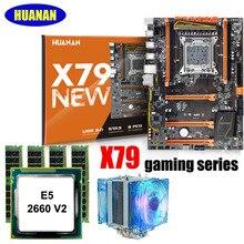 HUANAN Чжи X79 игровая материнская плата с M.2 Накопитель SSD с протоколом NVME слот скидка материнская плата с ЦПУ Xeon E5 2660 V2 с охладитель Оперативная память 32G (4*8G)