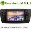 """7 """"2 din Quad Core Android 5.1.1 Автомобильный DVD Automotivo Для Сиденья Ibiza 2009 2010 2011 2012 2013 2014 с GPS Car Radio Bluetooth"""