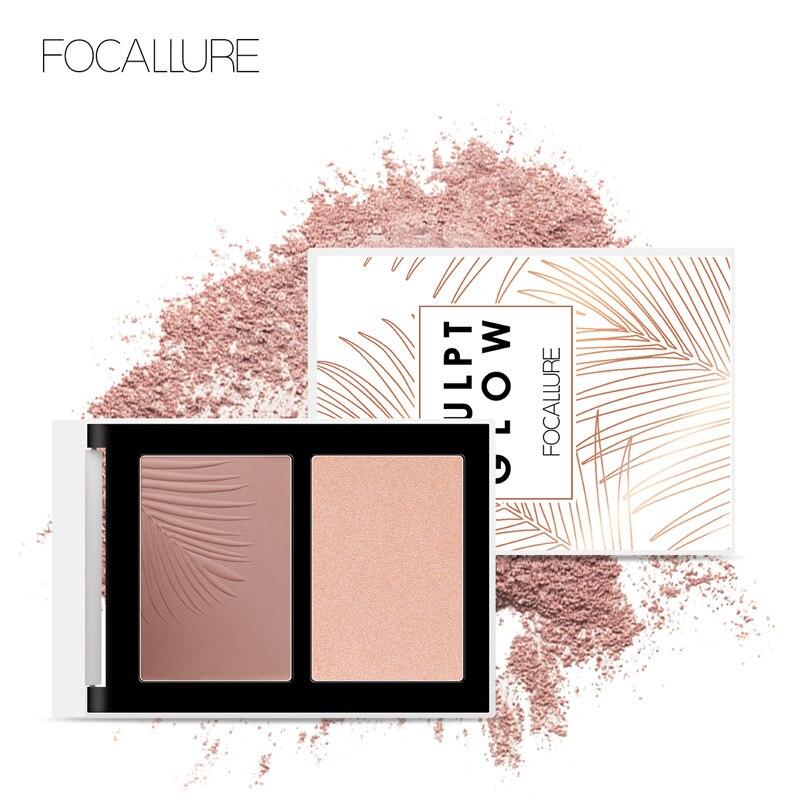 FOCALLURE 2019 NEUE Bronzer Highlighter Palette 3D Natürliche Gesicht Make-Up Feinen Creme Pulver