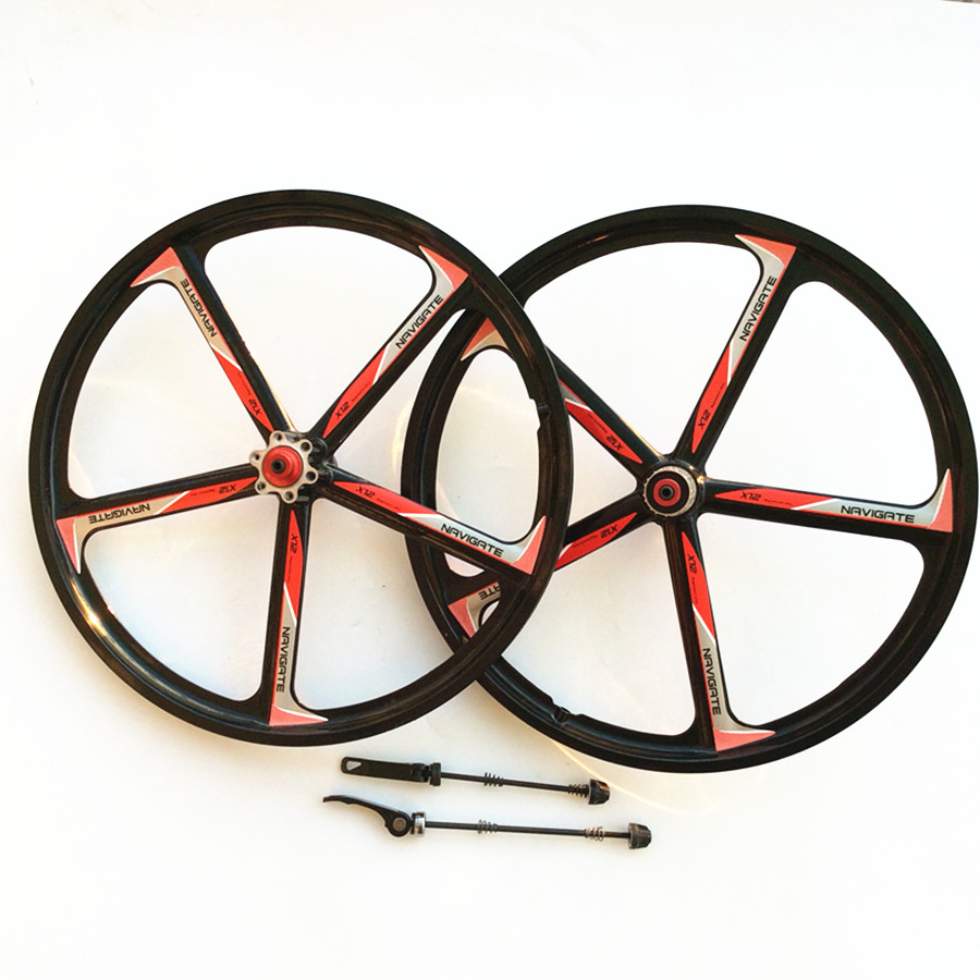 Online Shop 1 Pairs Of Magnesium Alloy Bicycle Wheels 20 Mountain Alfa Romeo Bike Folding Including Front And Rear Suitable Aliexpress