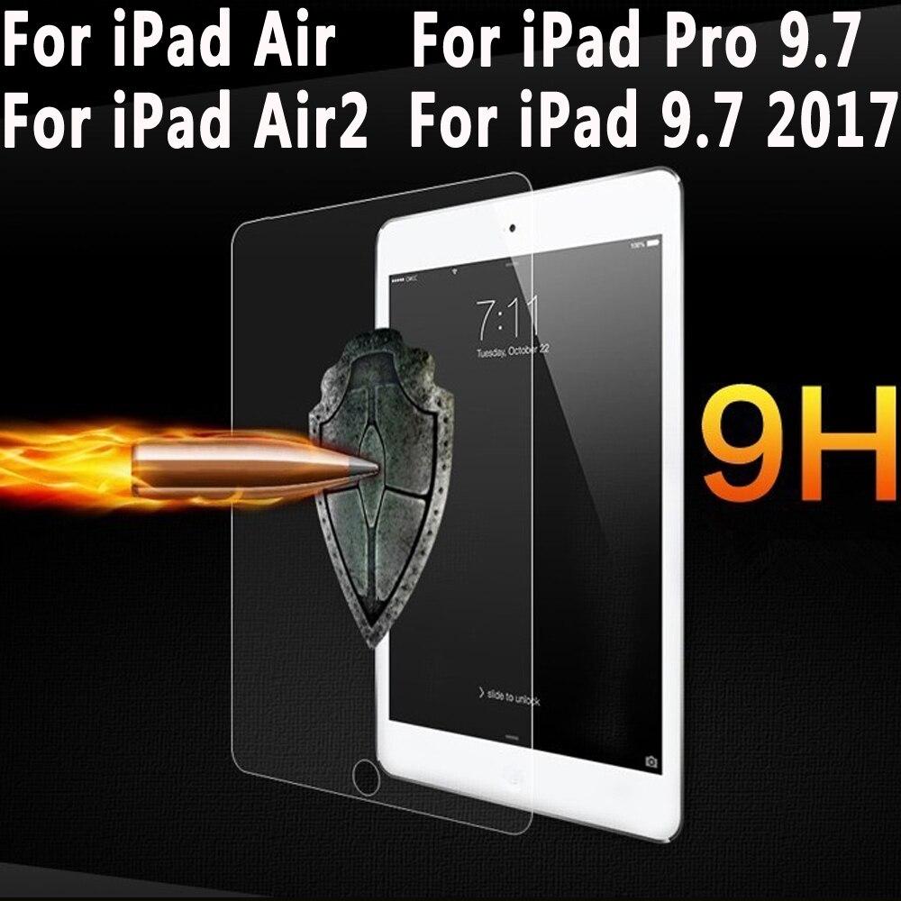 Prime En Verre Trempé pour iPad 9.7 2017 2018 Écran Clair Protecteur pour Apple iPad Air Air 2/iPad Pro 9.7 pouce Trempé Verre