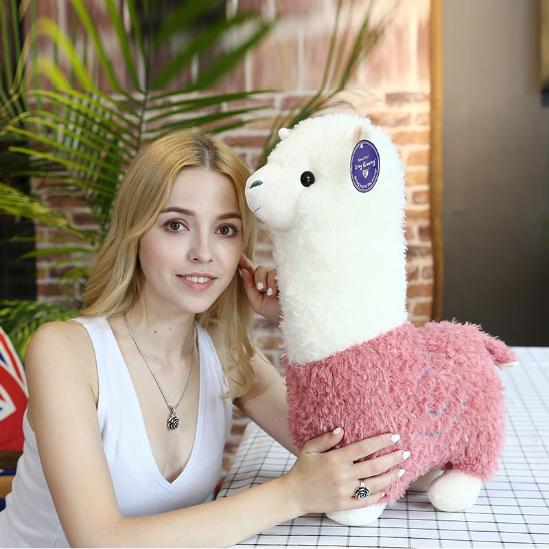 Kawaii Rainbow 25cm Alpaca Plush Doll Toys Cute Lama Alpacasso Toys Plush Japanese Alpaca Animal Stuffed Doll Children Kids Gift