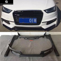 A4 B9 WD style Car body kit PP unpainted auto front bumper lip side skirts Rear diffuser for Audi A4 B9 WALD style 13 15