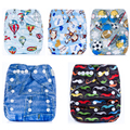 2016 Kawii Baby Pocket Cloth Diaper Breathable Nappy Adjustable Cotton Cloth Nappies 5pcs Diapers With Inserts 0-15KG