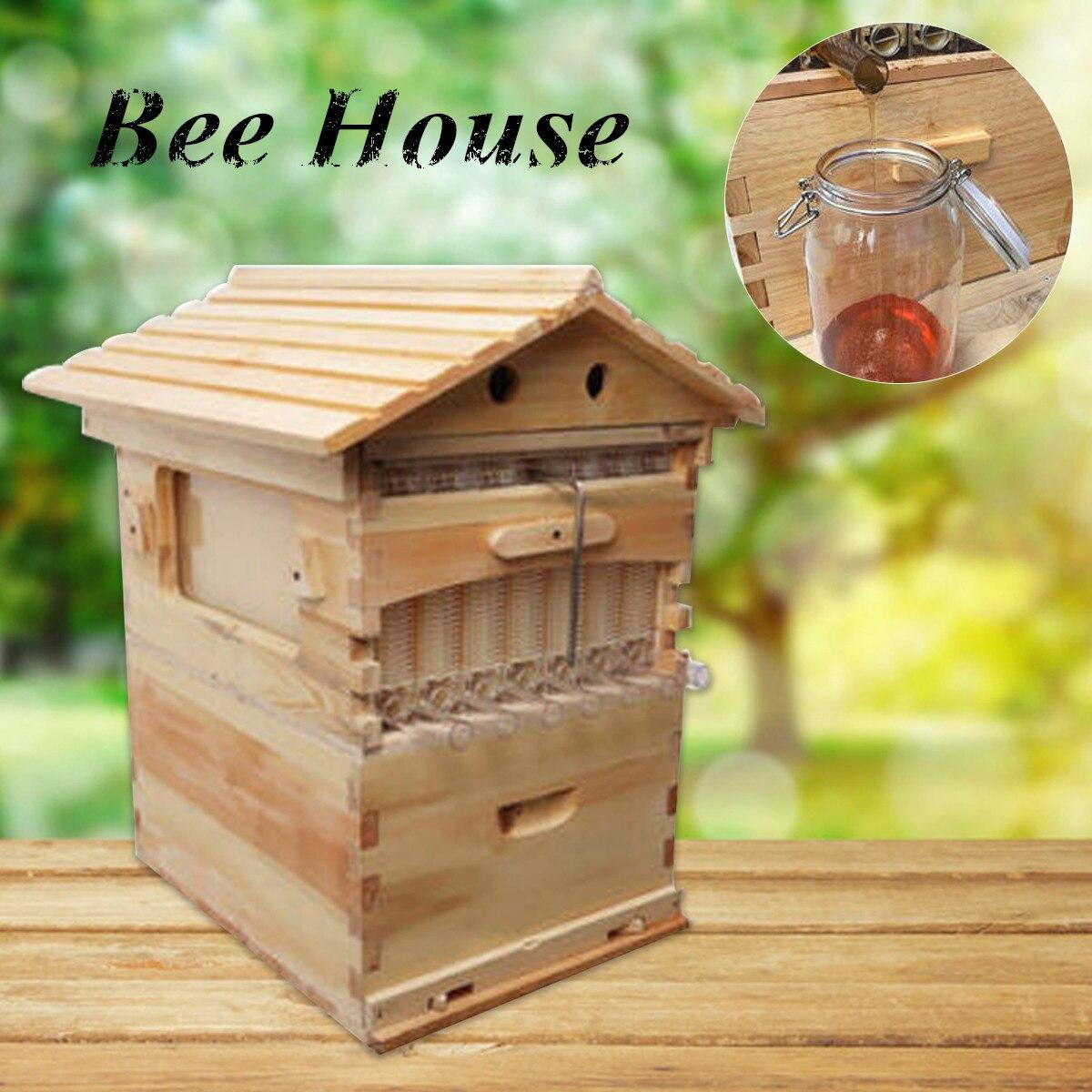 Nouveau Unique L'apiculture Boîte Maison 65x42x23 cm Excellente Ruche Maison Avec Fine Bois