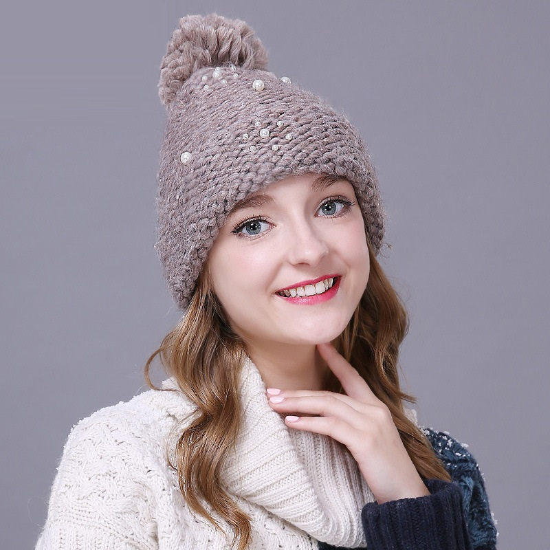 Women Girls Winter Warm Classic Pompom Knit Beanie Hat Long Short Style Choices