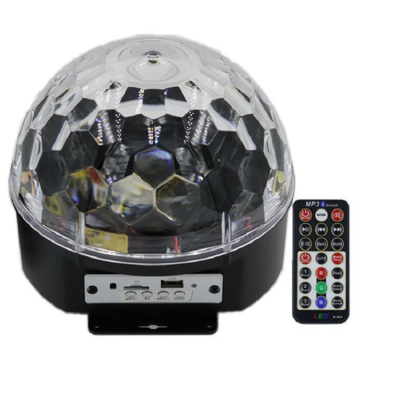 9 Color Mp3 Upgrade Bluetooth Music Led RGB with Music Crystal Magic Effect Ball Light Disco Dj Stage Light
