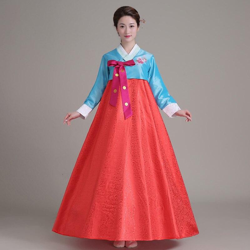 0e6afeef30bb Tradizionale Coreano Hanbok Vestiti Costumi Asia Tradizionale Vestiti Donna  Abiti abbigliamento Abiti Da Sera Cantante Costume in Tradizionale Coreano  ...