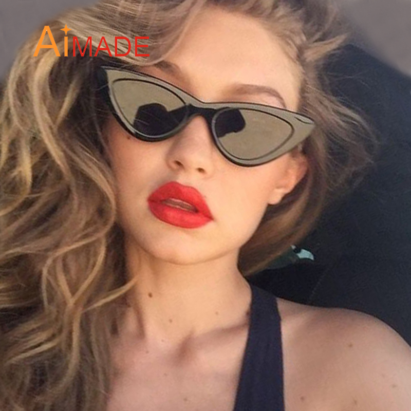 7fd1432429 Aimade 2018 Fashion Clear Lens Small Cat Eye Sunglasses Women ...
