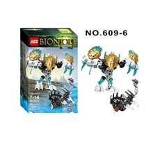 XSZ 609 6 Biochemical Warrior Bionicle Melum Creature of Ice Bricks Toy Building font b Block