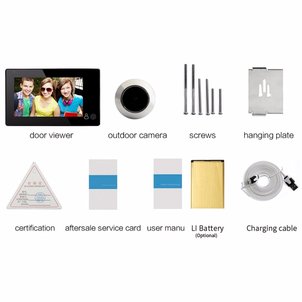 43CH Professional 4.3 Inch TFT Display Visual Monitor Door Peephole Camera 145 Viewing Degree Wireless Viewer Camera visual studio 2005 professional