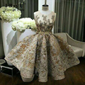 I Bay U Applique Formal Gowns Short Cocktail Dress Beaded Lace Appliques Women Clothing Mini Ball Gown Club Party Prom Dresses