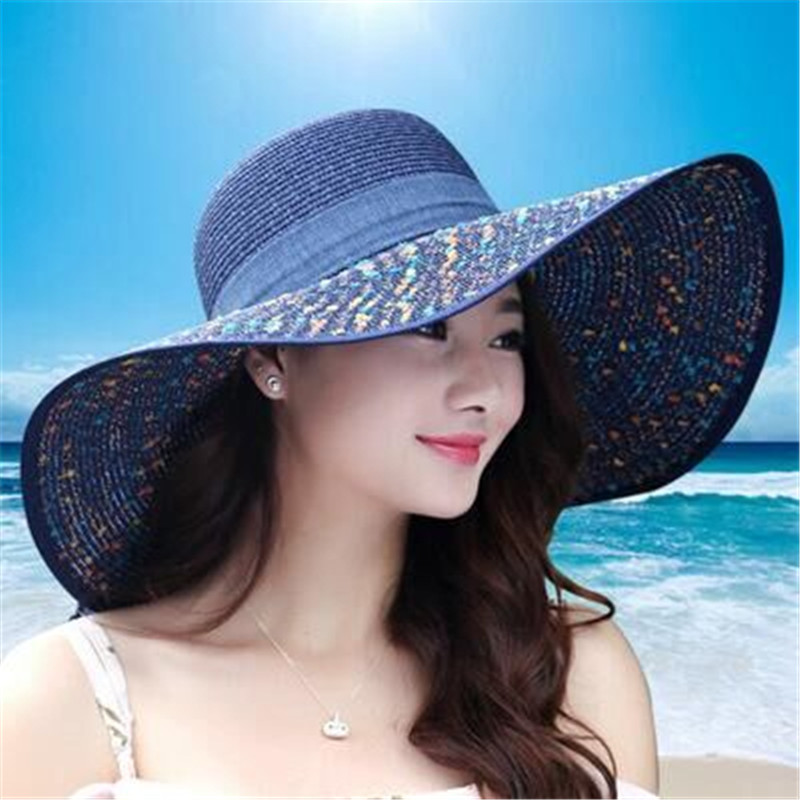 2016 Straw Hats For Women's Female Summer Ladies Wide Brim Beach Hats Sexy Chapeau Large Floppy Sun Caps New Brand Spring Praia free shipping 2017 new dot turban hats hijab caps for women ladies