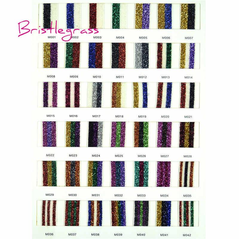 """BRISTLEGRASS 3 ярда 5/8 """"15 мм металлический блестящая, эластичная лайкра атласные ленты повязка на голову для волос с кружевной отделкой, платье-пачка DIY Швейные"""