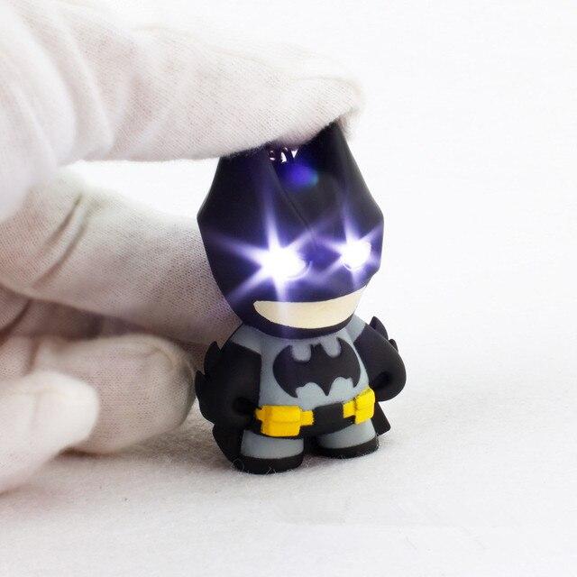 Fancy&Fantasy New Arrival Superhero Batman Led Keychain Flashlight Pendant Key C