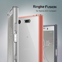 Ringke Fusion Case For Sony Xperia XZ1 Compact Transparent PC Back TPU Bumper Built In Dust
