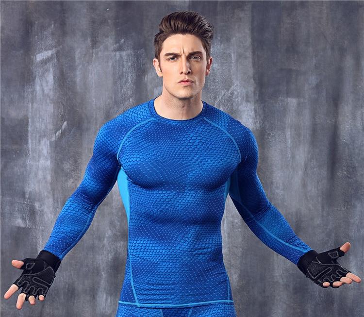 Vīriešu krekls Fitness Exercise kompresijas zeķbikses ar krekliem - Vīriešu apģērbi