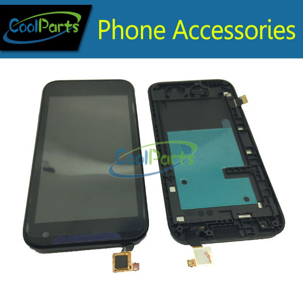 For HTC Desire310 LCD Screen and Touch Screen Digitizer Wtih Frame Single SIM AssemblyBlue And White Color Free Shipping 1PC/Lot