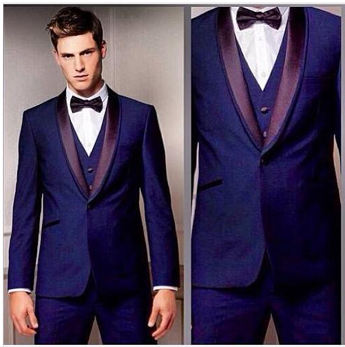 Groom Tuxedos Custom Men Suit Bridegroom Notch Lapel Groomsmen Best Man Office Business Coat Wedding