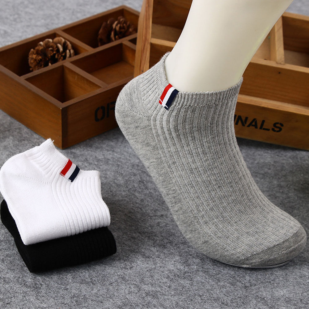 NEW 1pair Popular Men's Sport Soft Cotton Socks Lot Short Crew Ankle Low Cut Socks Anti-Bacterial Deodorant Breatheable Man