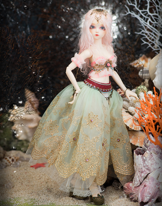 1 4 Bjd doll 4 points girl Alicia joint doll send eyes