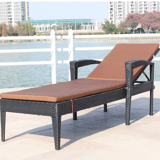 US $926.0 |Factory direct indoor and outdoor swimming pools leisure lying  bed beach rattan furniture loungers U102-in Chaise Lounge from Furniture on  ...