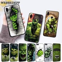 WEBBEDEPP Marvel Comic Superhero Hulk Painted Silicone Case for Xiaomi Redmi 4A 4X 5A 5 Plus S2 6 6A 7 7A K20 Pro Go